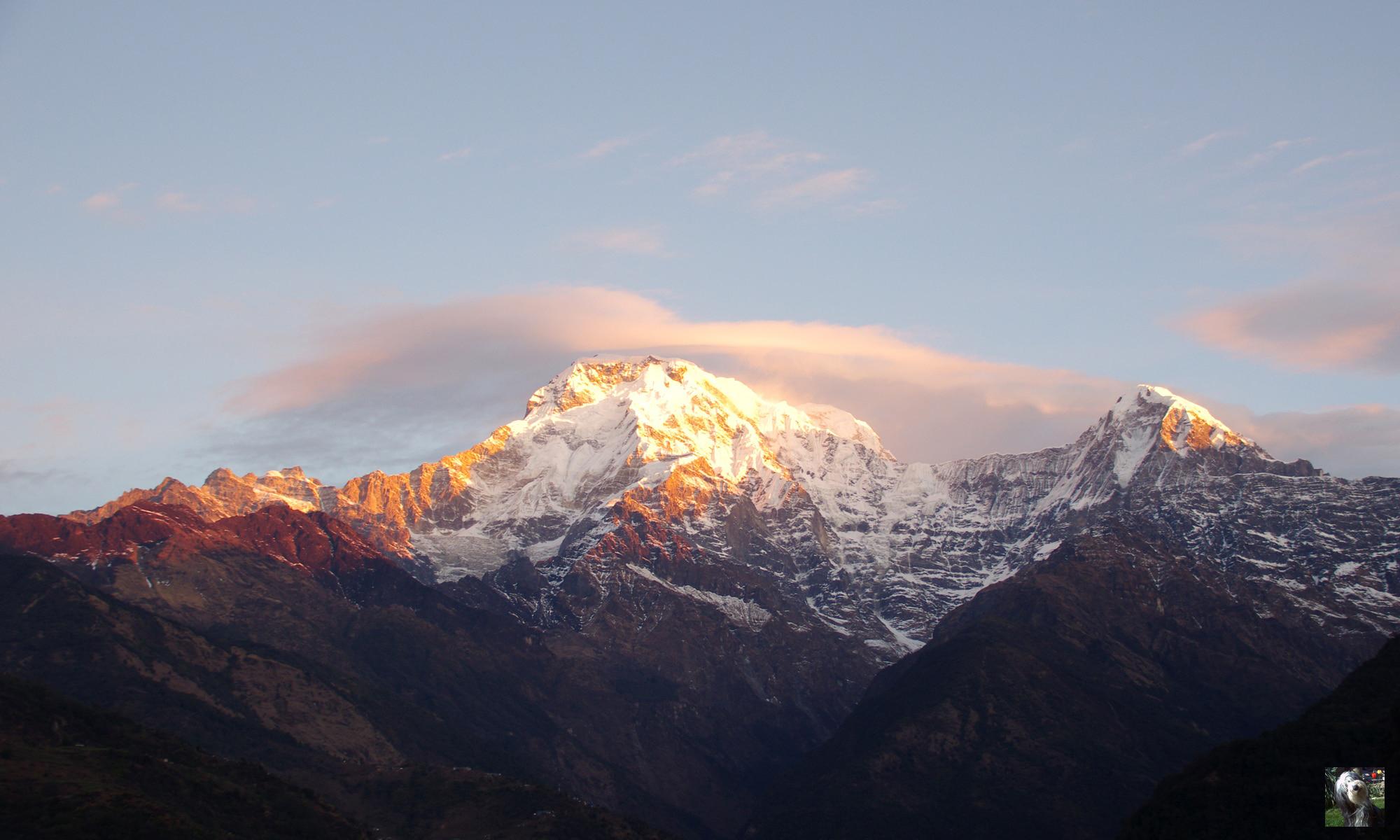 Chaine des Anapurnas, Népal.