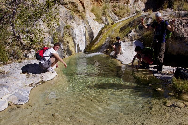 Petite rivière aux eaux limpides dans le massif du Naukluft.