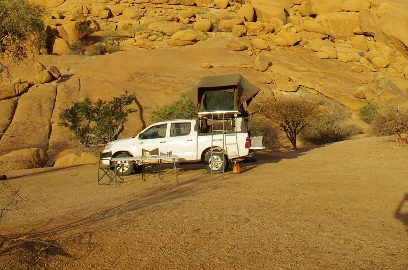 Seuls dans le désert namibien