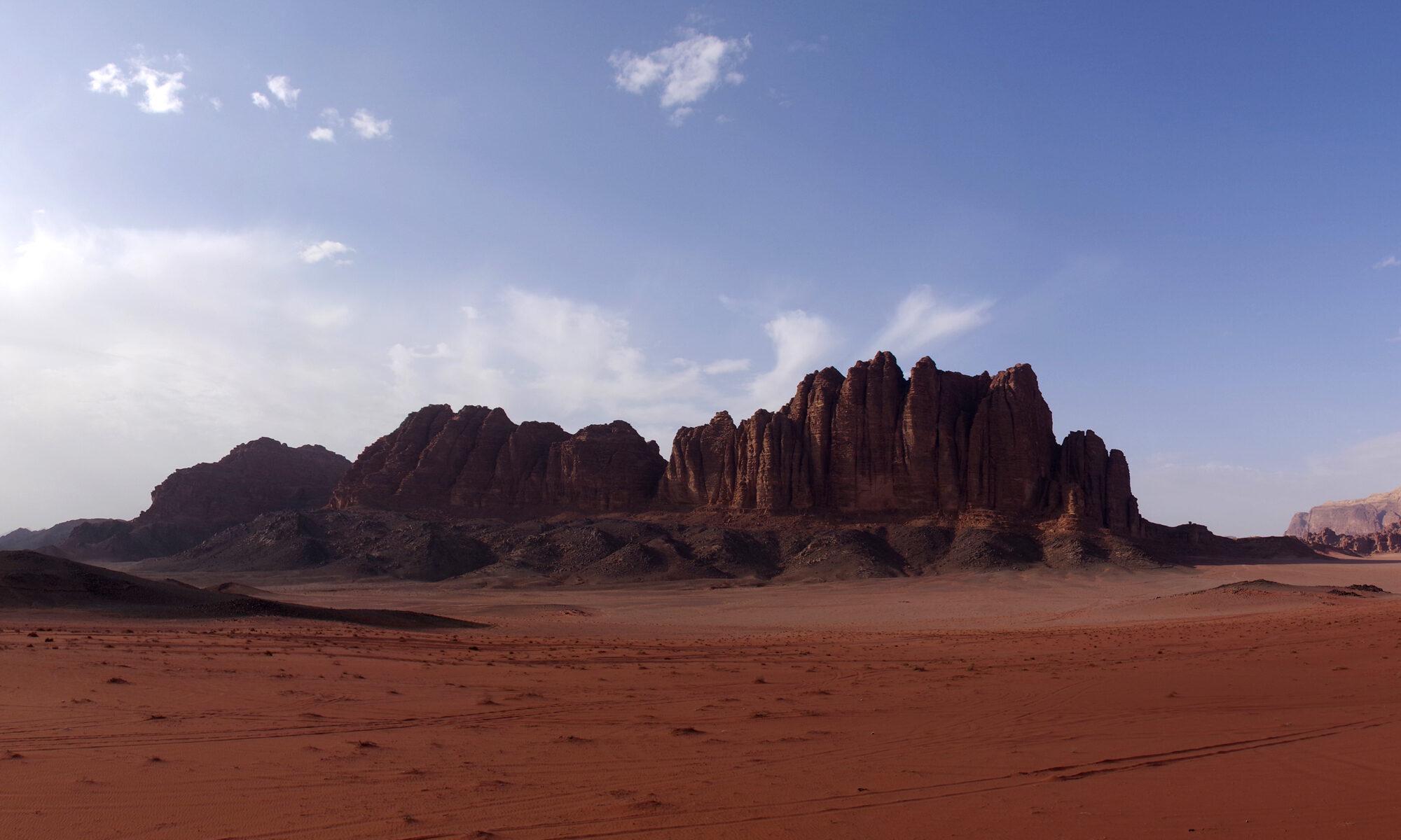 Les piliers de la Sagesse, Wadi rum, Jordanie.