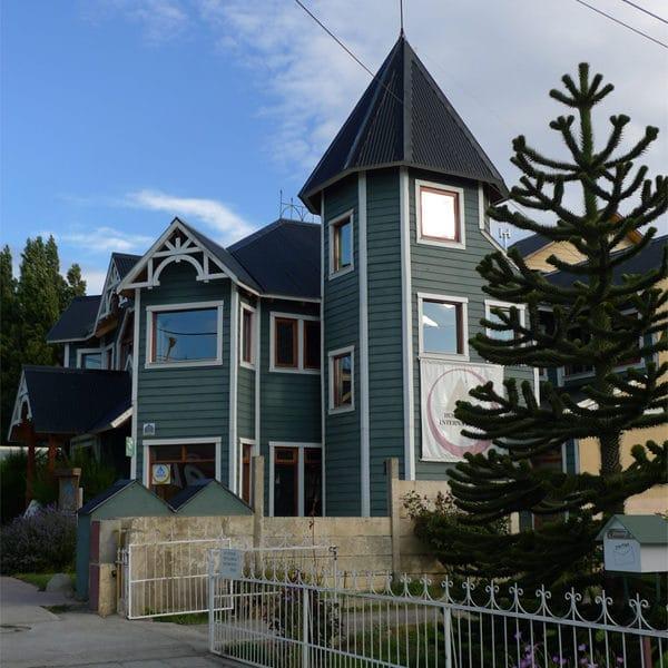Notre hôtel à El Calafate, ville de notre arrivée en Patagonie.