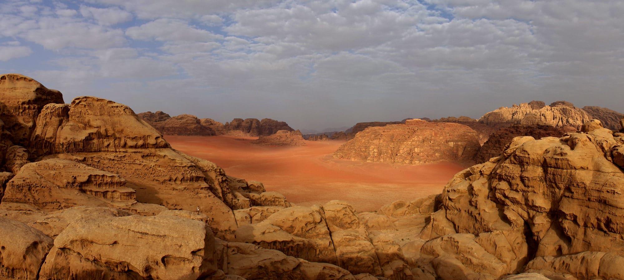 Jordanie, désert du Wadi Rum.