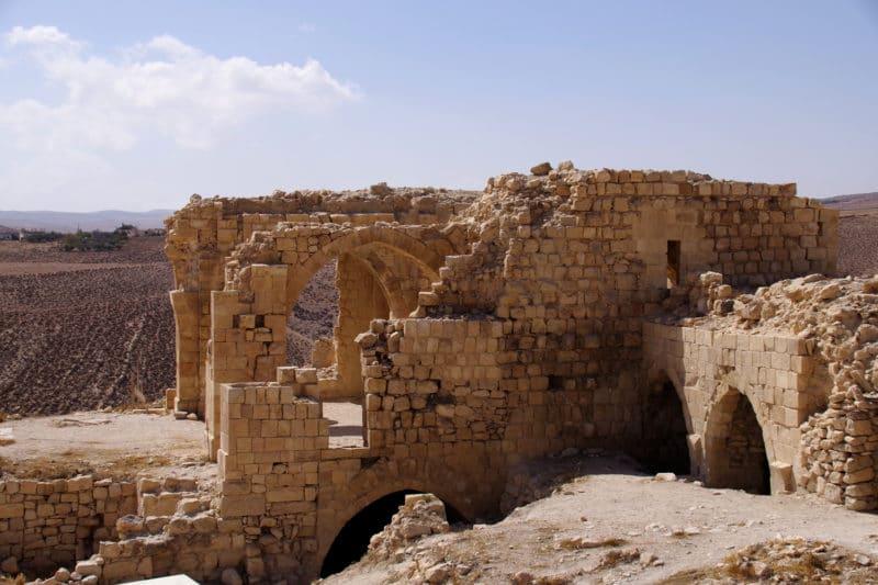 Jordanie, la forteresse de Shawbak.