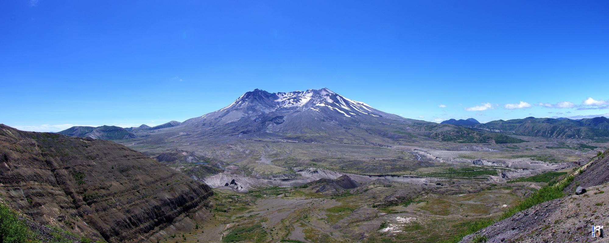 Mount Saint Helens. Vue sur le cratère égueulé.