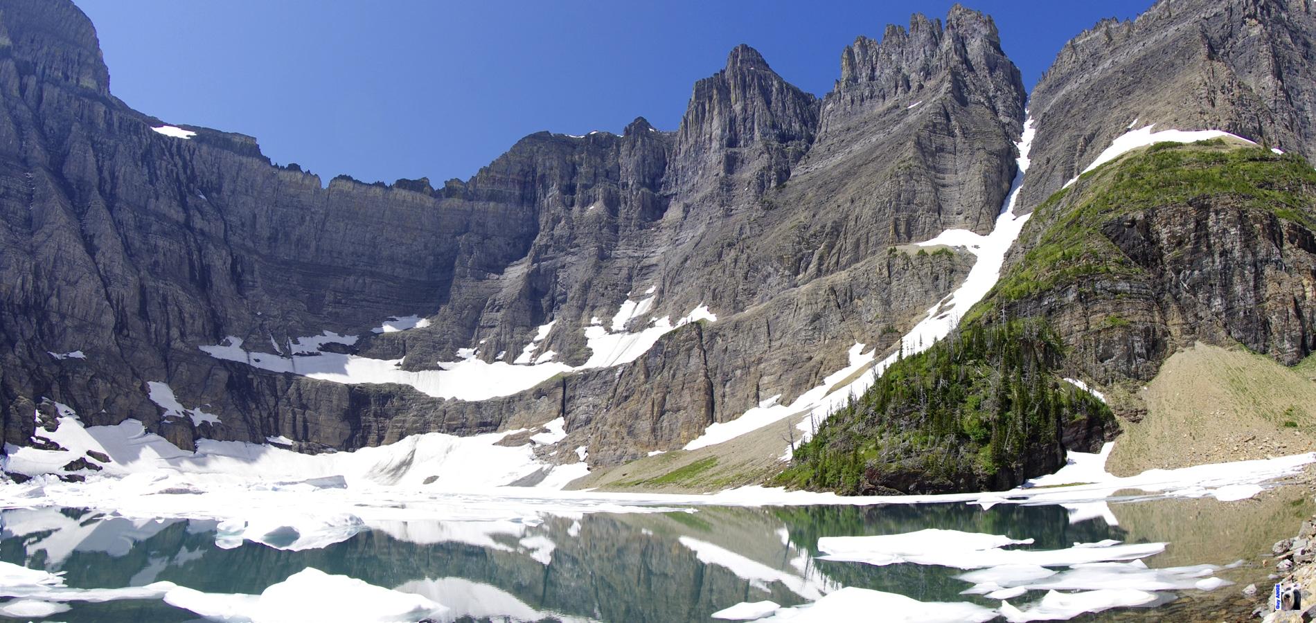 Glacier National Park. Iceberg lake.