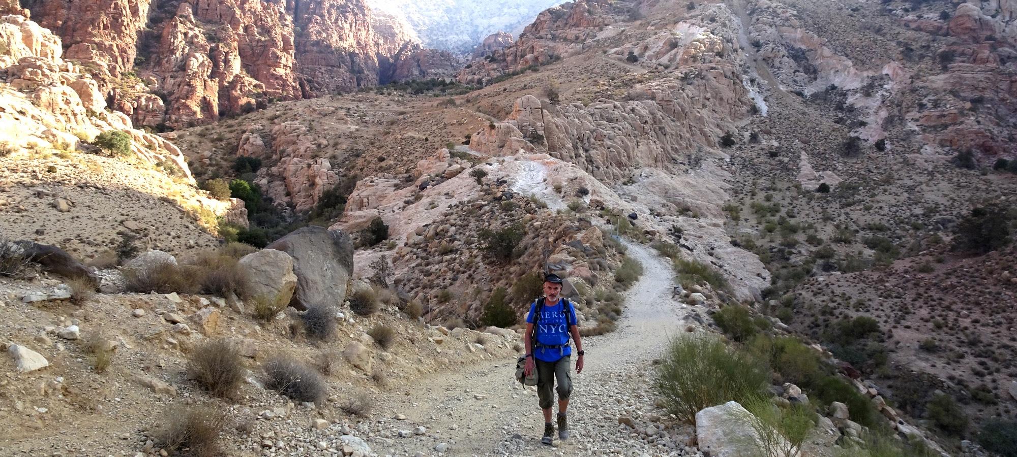 Trek dans la réserve naturelle de Dana.