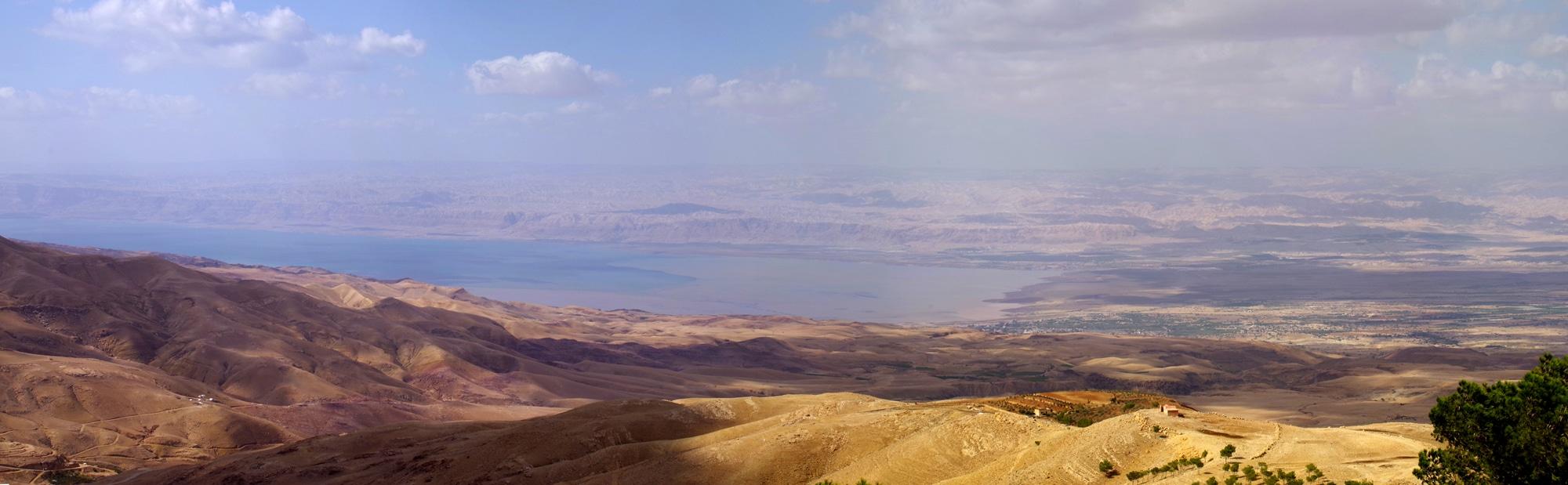 Vue sur la mer Morte du mont Nébo.