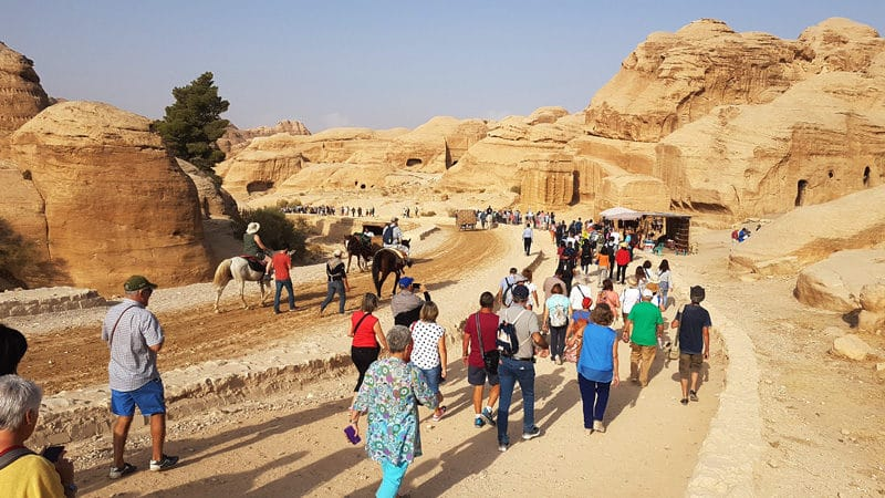 A l'entrée du site, le flot de touristes au second jour. Nous sommes arrivés bien plus tard que le premier jour.