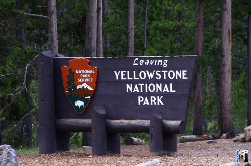 Une des entrées du parc de Yellowstone.