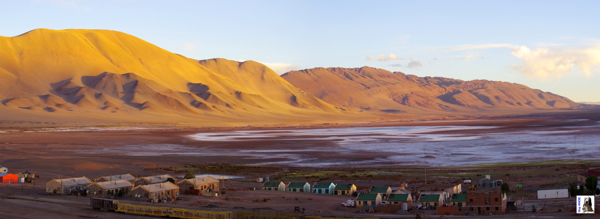 Argentine, Tolar Grande au soleil couchant.