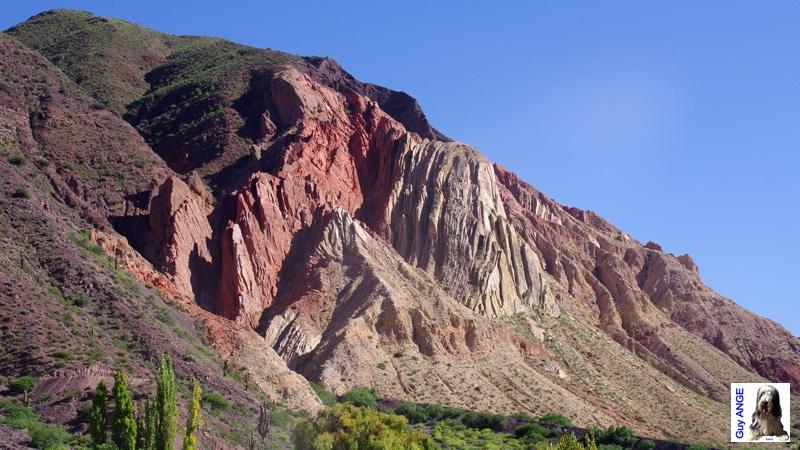 La Quebrada humahuaca de Pumamarca à Tilcara.