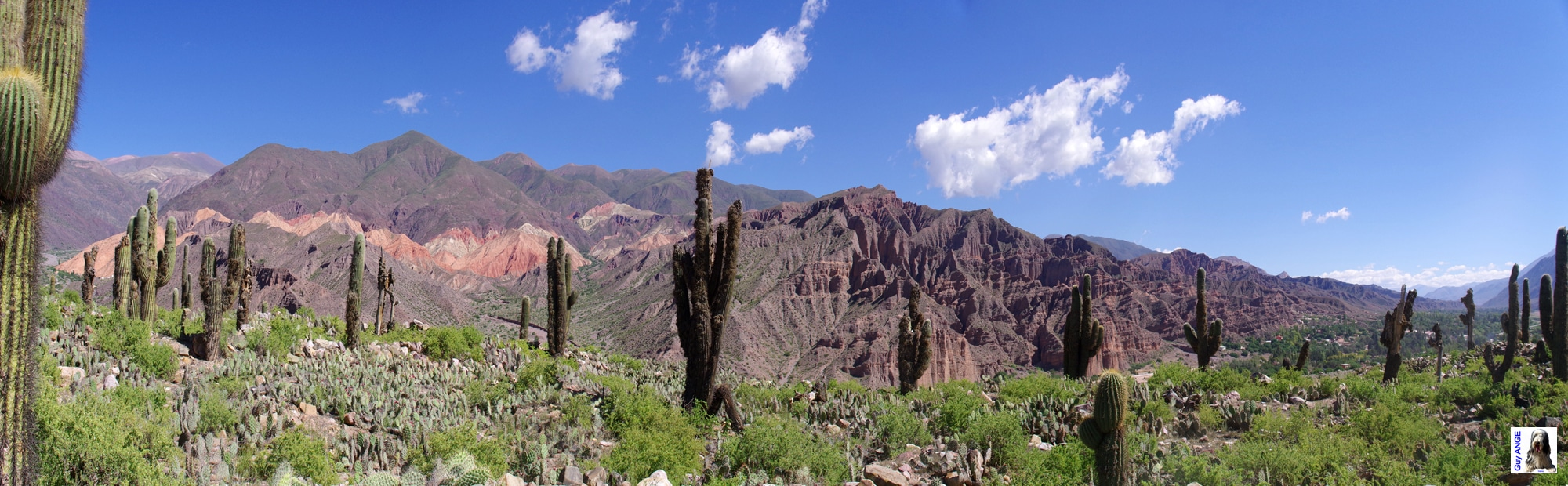 La Quebrada humahuaca ici au niveau de Maimara.
