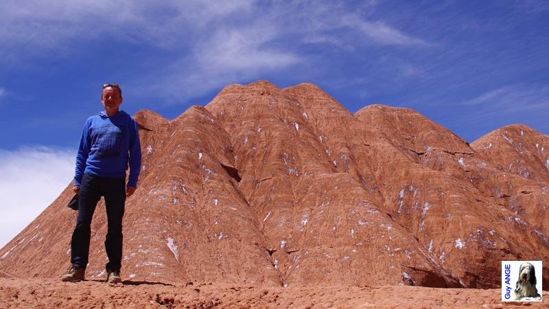 Argentine, région de la Puna. Labyrinthe dans les collines d'argile.