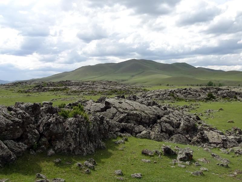 Coulée basaltique dans la vallée d'Orkhon.