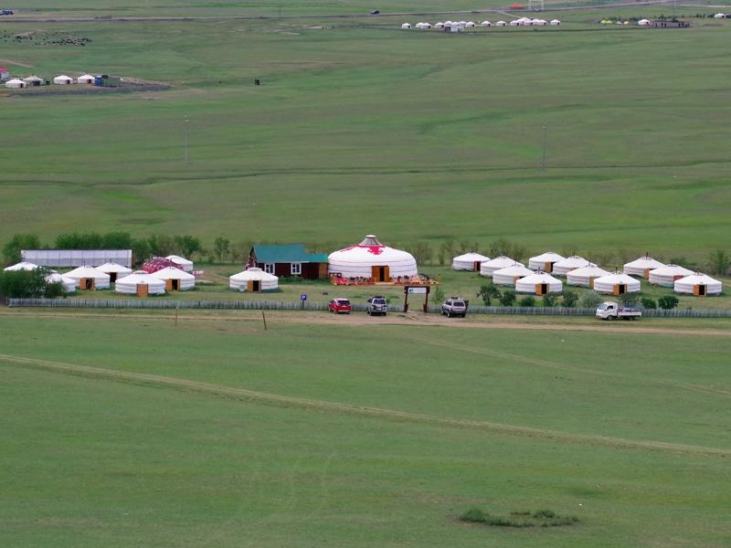 Le camp de Gers de Bilgai à Karakorum.
