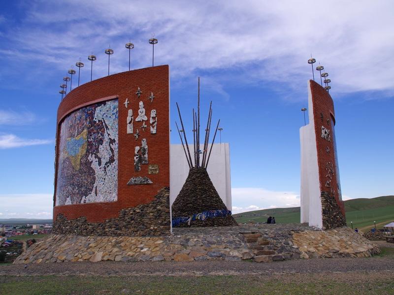 Monument à la gloire de Gengis Khan.
