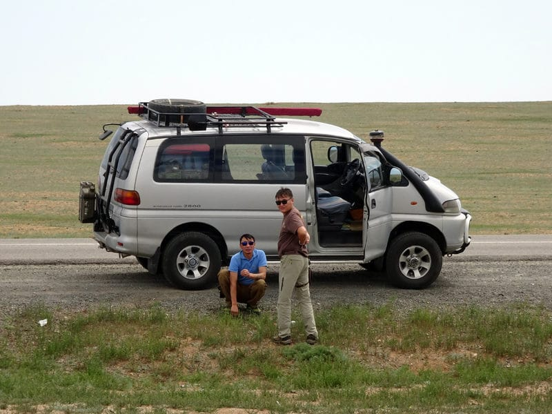 Notre véhicule 4X4, un Mitsubishi.