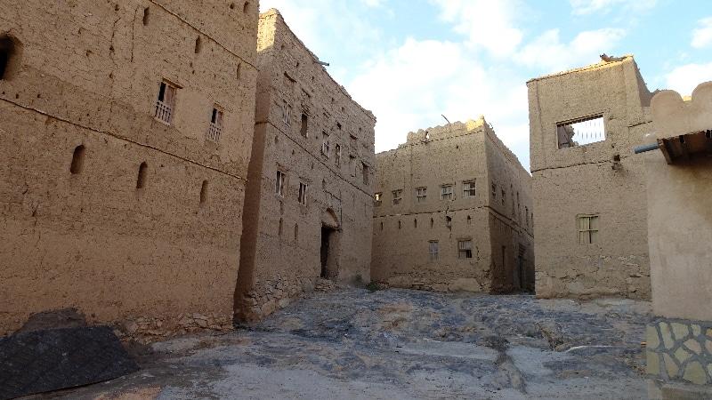 L'ancien village d'Al Hamra, beaucoup de construction sont en ruine.