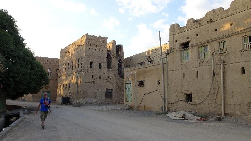 L'ancien village d'Al Hamra. Dédale de maisons abandonnées.