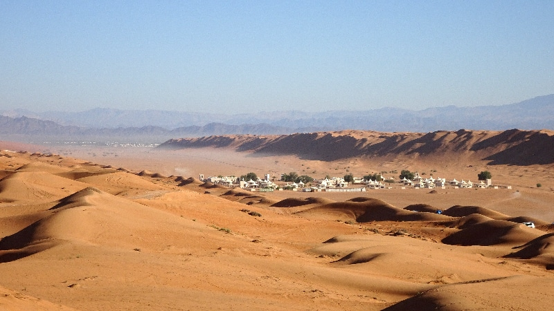 Le village d'Arabian Oryx camp.
