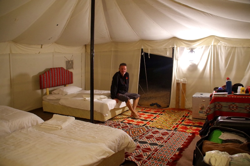 Arabian Oryx Camp, intérieur de notre tente.