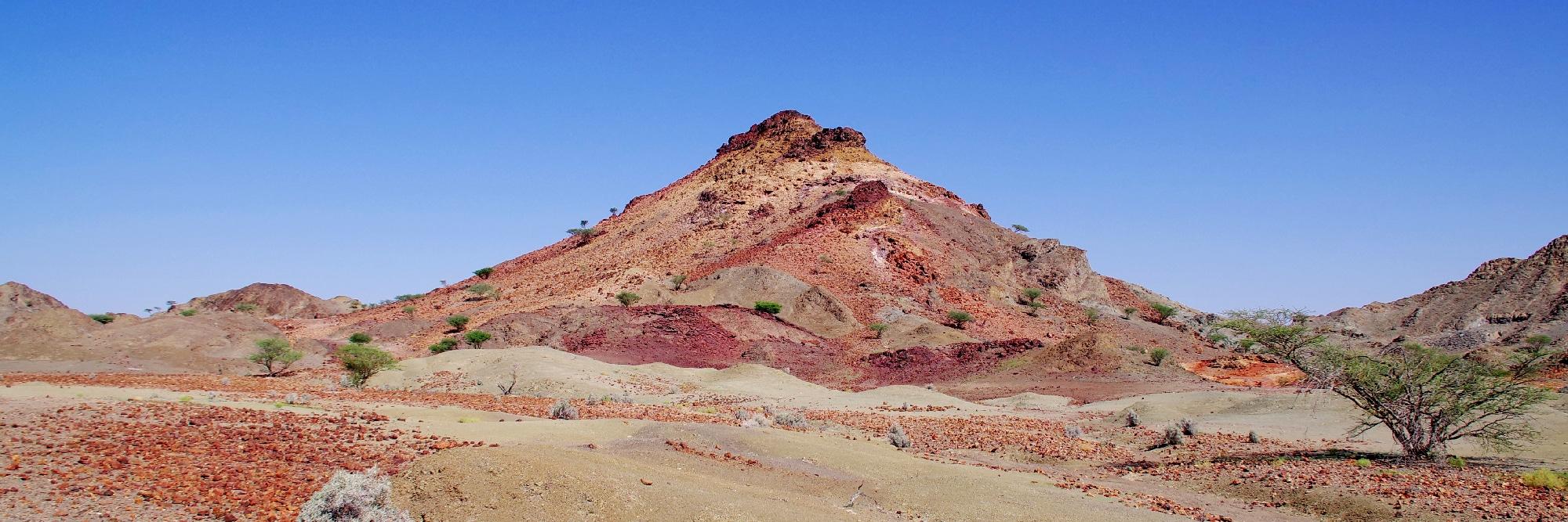 La colline de Zuha, vestiges de fumeurs noirs océaniques.