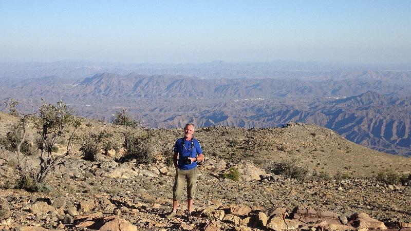 Du haut du Djebel Akhdar, vue impressionnante sur la plaine en contre-bas.