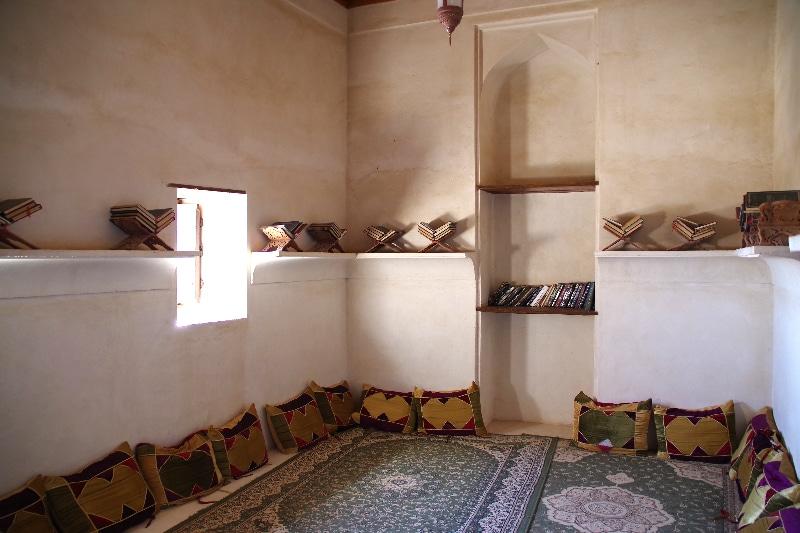 Le château de Jabrin, Sultanat d'Oman. Une pièce du château reconstituée.