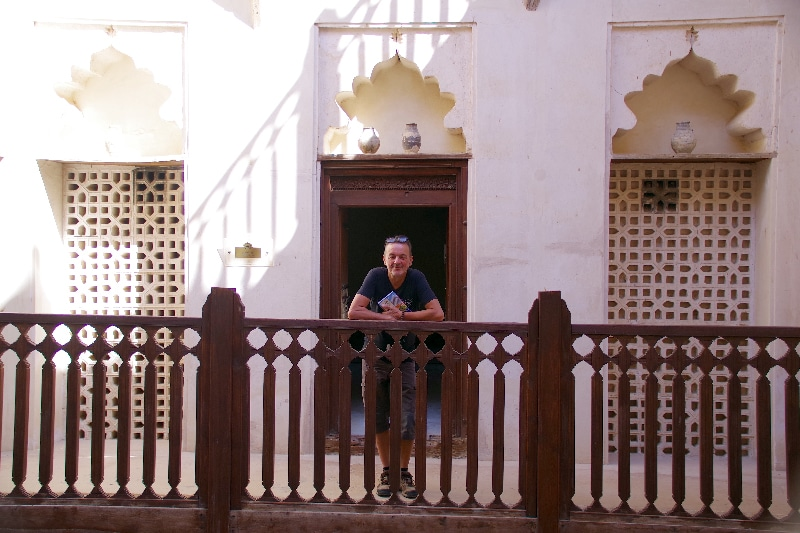 Le château de Jabrin, Sultanat d'Oman. Cour intérieure.