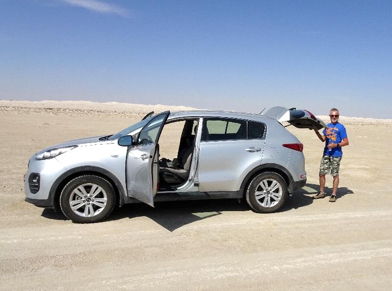 Notre véhicule, un Kia Sportage 2.4 4X4.