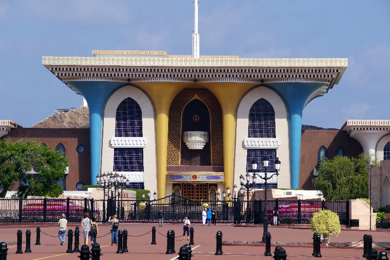 Le palais du sultan Qaboos ibn Saïd construit en 1972.