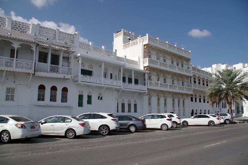 Vieilles maisons sur la corniche de Mutrah.