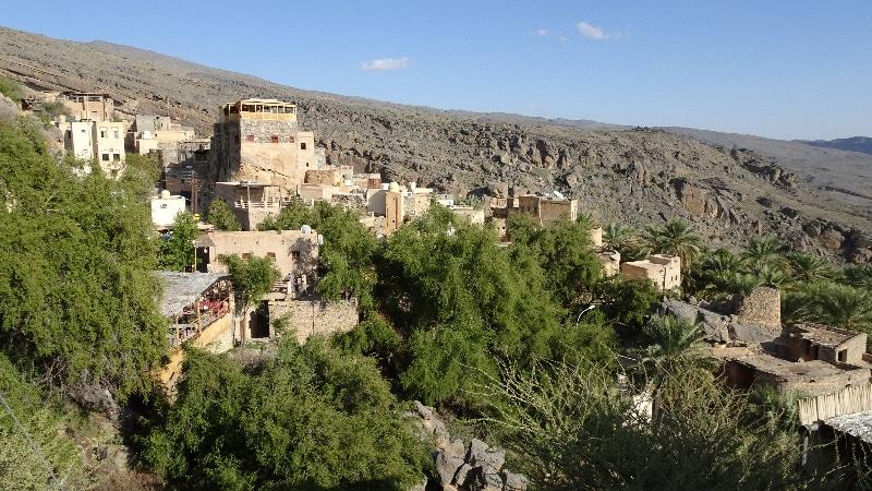 Le village de Misfat, oasis au milieu du désert omanais.