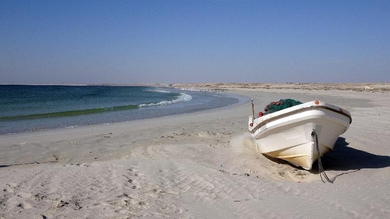 Plage au sud d'Oman.