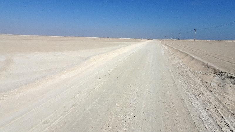 En direction de la côte, le paysage est plat !