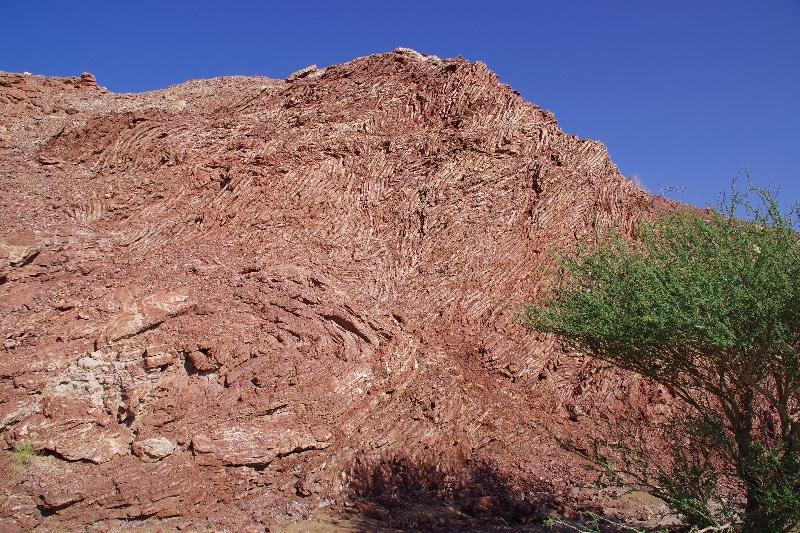 Les couches sédimentaires de l'ancienne mer Téthis.