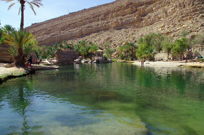 Le Wadi Bani Khalib très touristique.