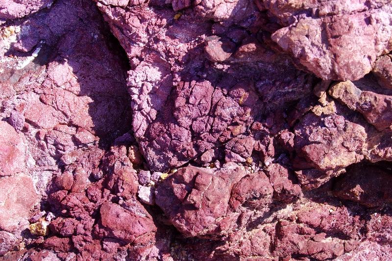 Minéraux de la colline de Zuha. On retrouve beaucoup de sulfures métalliques.