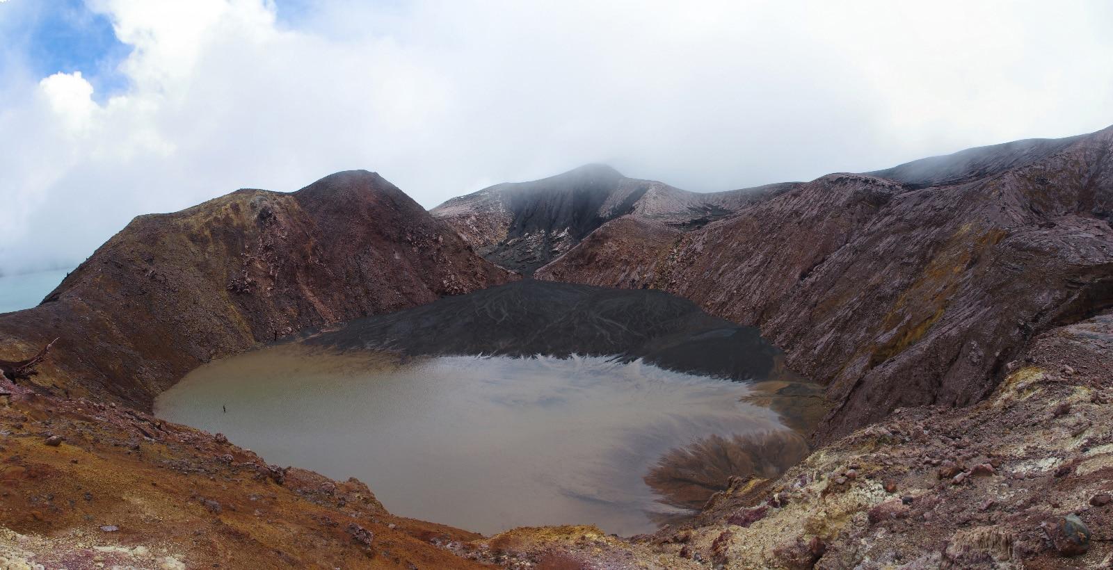 Cratère inactif sur l'île de Gaua.