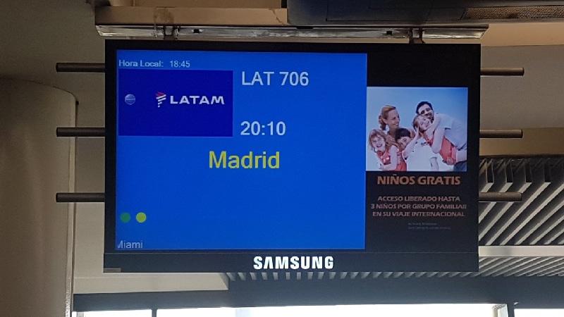 Aéroport de Santiago sur le départ.