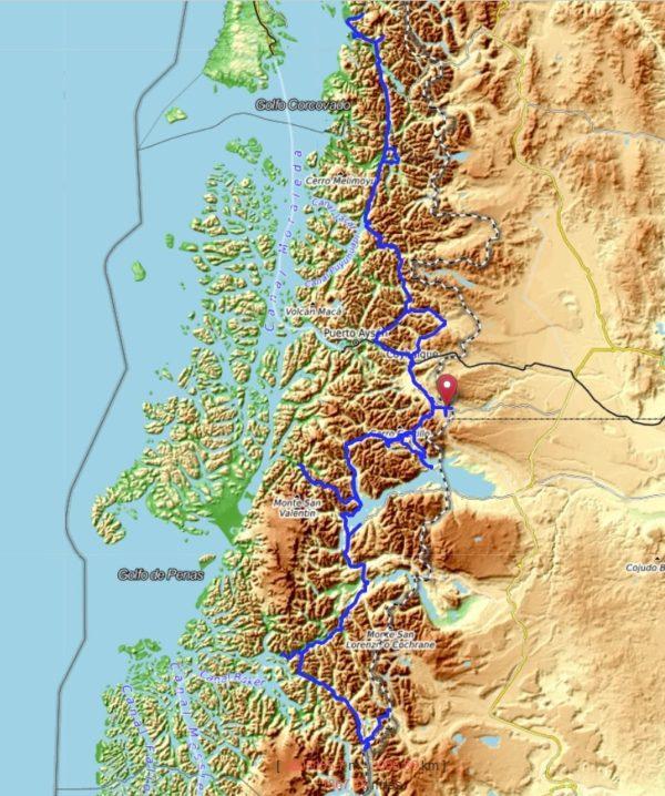 Notre parcours en Patagonie chilienne, plus de 3000 km dans notre Hilux