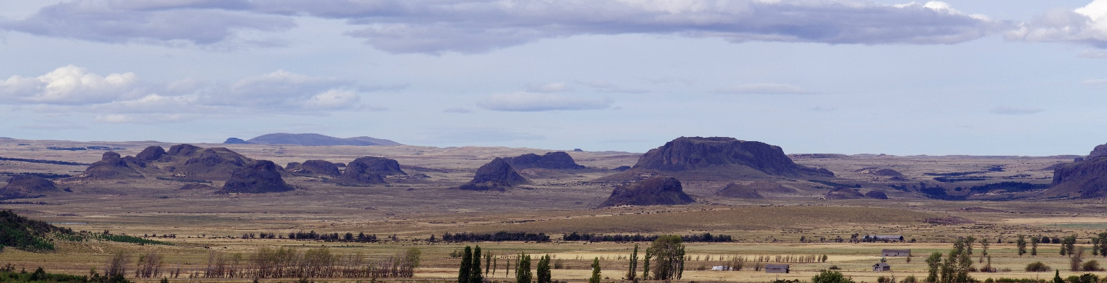 Paysage aride de Patagonie chilienne.