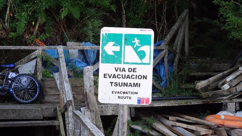 Route d'évacuation lors de tsunami.