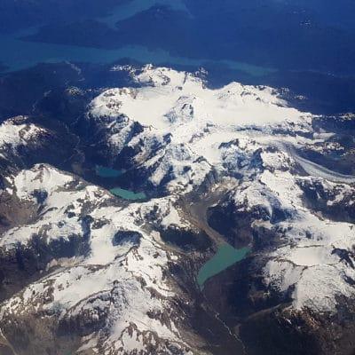Photos aériennes lors du vol Santiago Balmaceda.