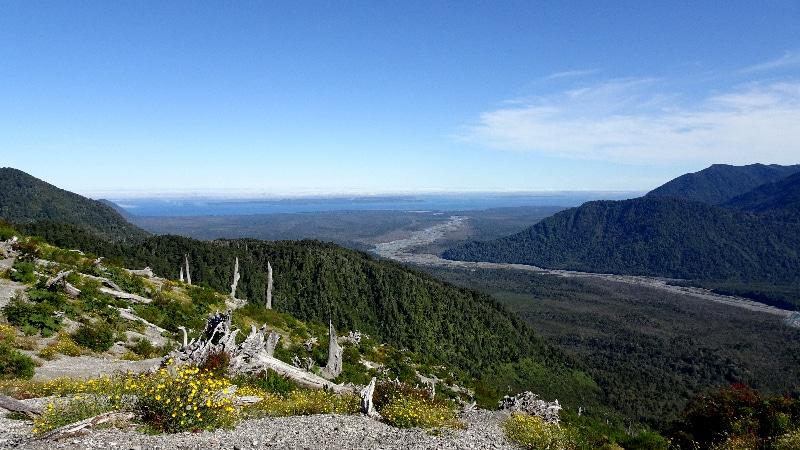 Vue du sommet du volcan Chaitèn.