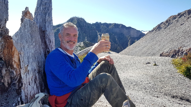 Nous fêtons notre randonnée sur le volcan Chaitèn.