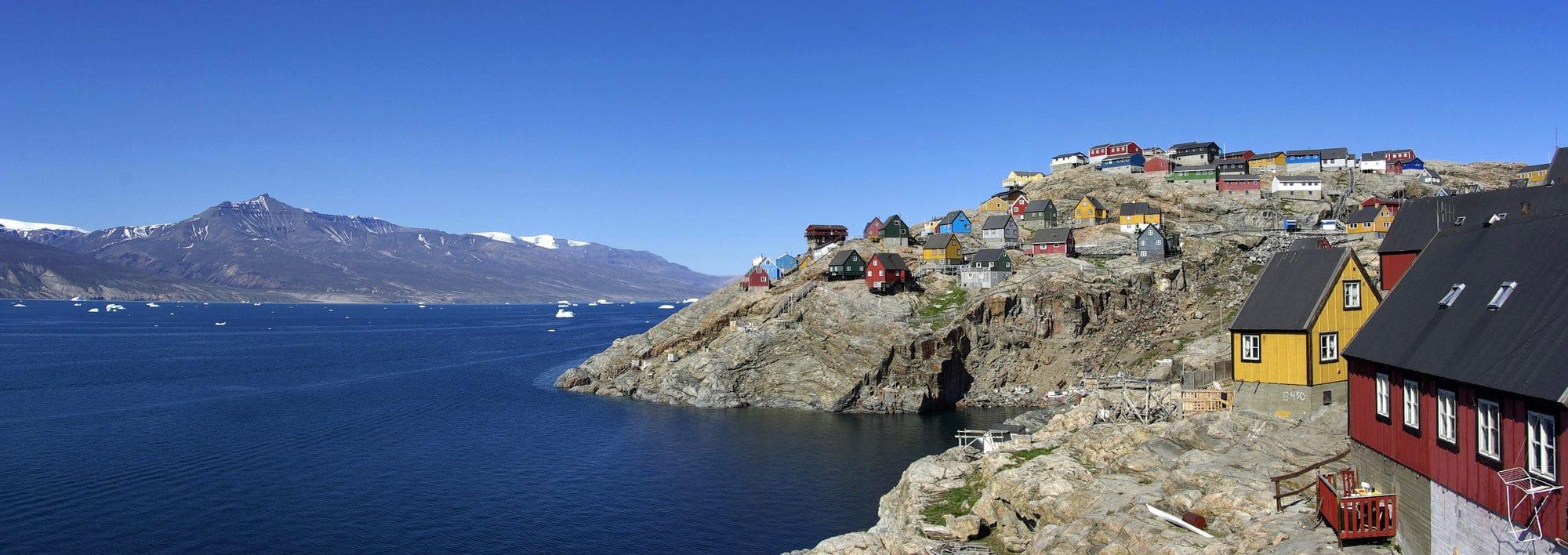 Le Groenland. L'île d'Uummannaq.