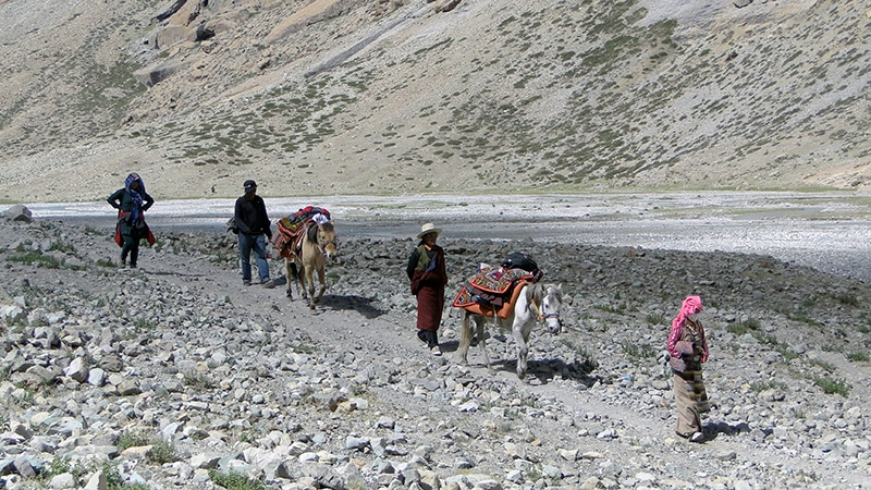 Les pèlerins tibétains sur la Kora du Kailash.