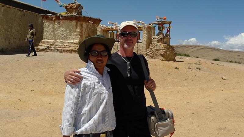 Visite du monastère de Chiu gompa en compagnie de Tempa.
