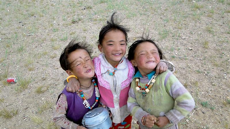 Les enfants tibétains.